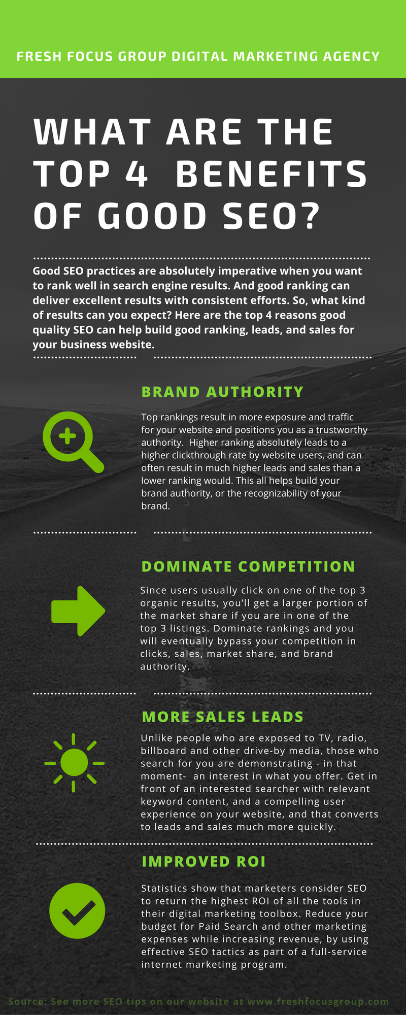Benefits of good SEO Infographic