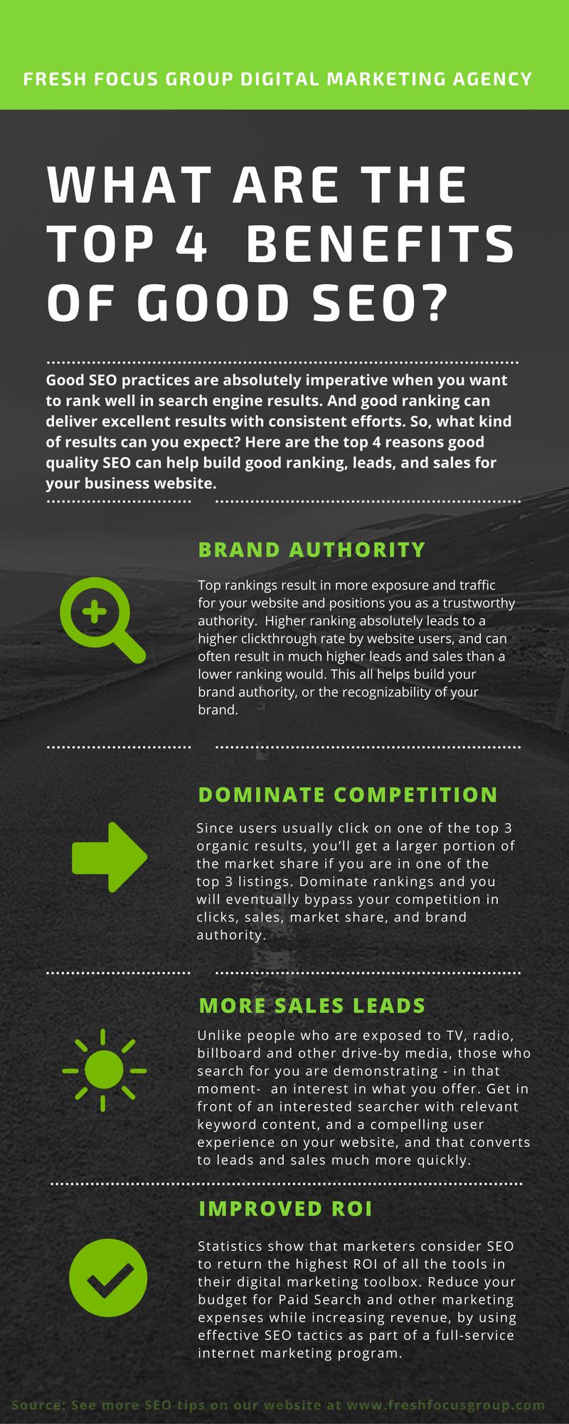 Benefits of good SEO Infographic