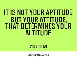 Attitude and positivity